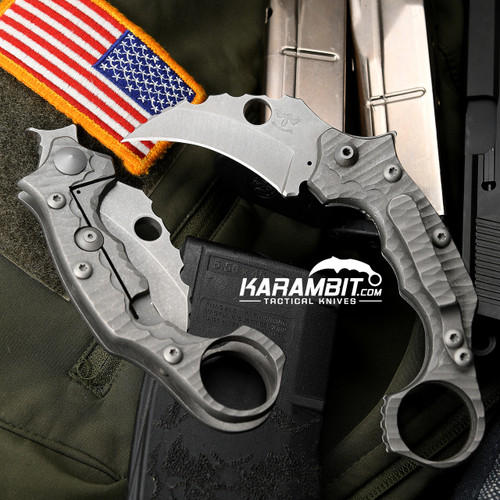 James Coogler's Textured Smasher Flipper Folding Karambit