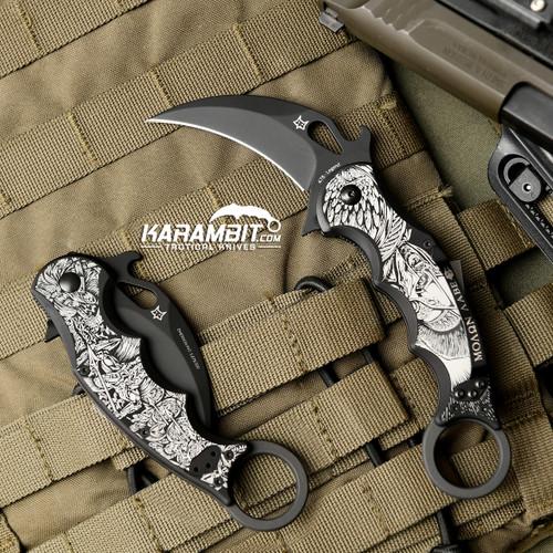 Fox Legend Series Folding Karambit - The Spartan (KC-478B-S)