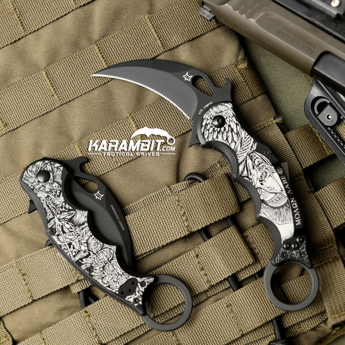 Fox Legend Series Folding Karambit - The Spartan (KC-478B-S)