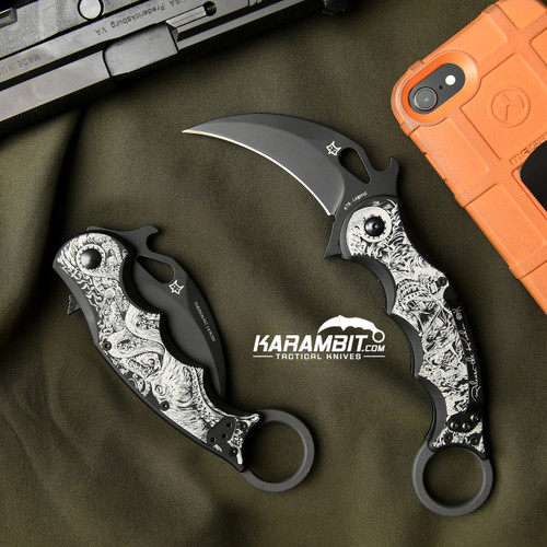 Fox Legend Series Folding Karambit - The Kraken