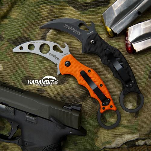 Fox 599 G10 Karambit and Training Karambit (FX599 + FX599-TK)