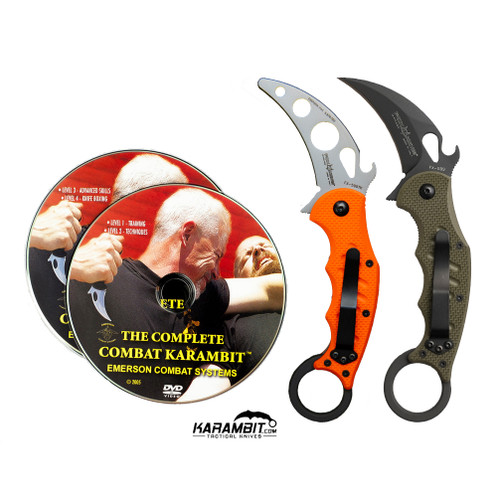 Fox 599 OD Green Karambit DVD Training Bundle - 3 in 1 (FX599OD+Trainer+DVDPkg)