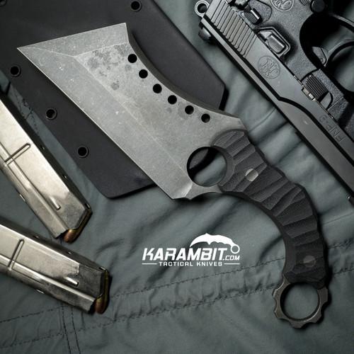 R.S. Knifeworks Wilson Blackout Ringed Butcher (RSKWilsonBlkoutButch)