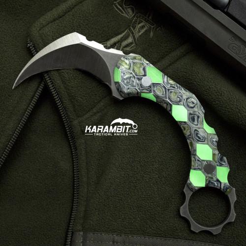 R.S. Knifeworks Peacekeeper Voodoo Resin Glow Karambit (RSKPeacekeeperVodooKbit)
