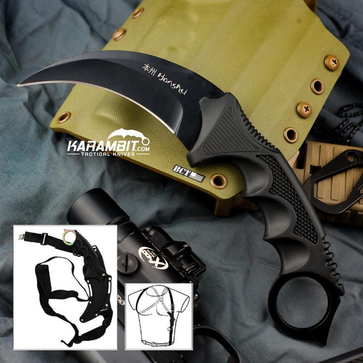 Honshu Black Kerambit w/Shoulder Harness (UC2791)