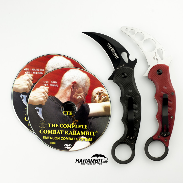 Fox 479 Karambit & DVD Training Package - 3 in 1 (FX479+Trainer+DVDPkg)