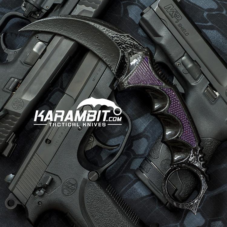 Painted Honshu Black Light Karambit