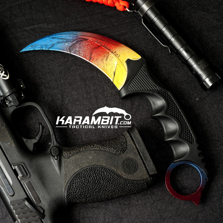 Painted Honshu Battle Shock Karambit