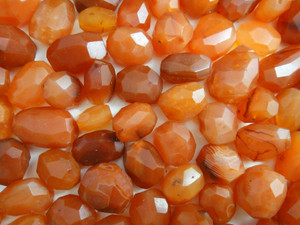 Beads Faceted - Carnelian 100g