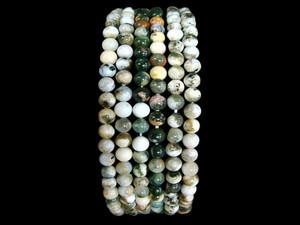 Necklace 4mm Bead - Orbicular Jasper