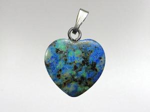 Heart Pendant 15mm - Azurite Malachite