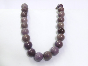 Necklace 10mm Bead - Jadeite Purple