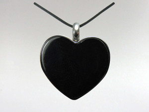 Heart Pendant - Agate Black