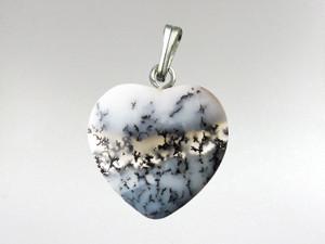 Heart Pendant 15mm - Dendritic Opal
