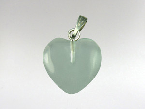 Heart Pendant 15mm - Obsidian Green