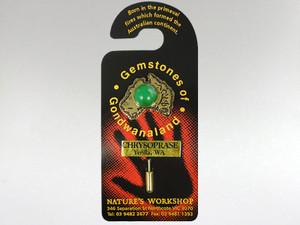 Australia Stickpin Gold - Chrysoprase
