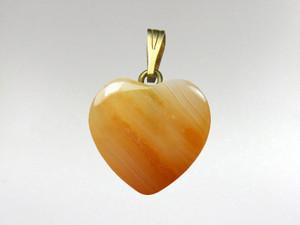 Heart Pendant 15mm - Carnelian