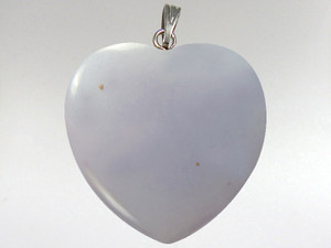 Heart Pendant 30mm - Blue Chalcedony