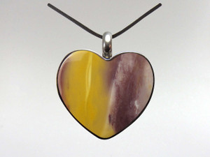 Heart Pendant - Mookite Jasper