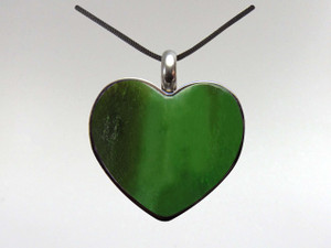 Heart Pendant - Jade Nephrite