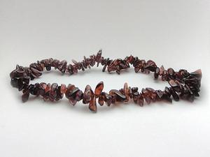 Bracelet Chip Bead - Garnet