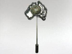 Australia Stickpin Silver - Boulder Opal