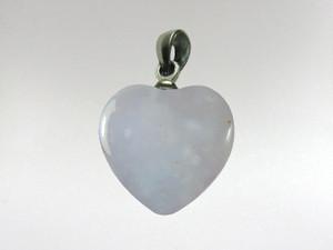 Heart Pendant 15mm - Blue Chalcedony
