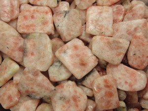 Tumble Stone Slice - Sunstone in Matrix 250g