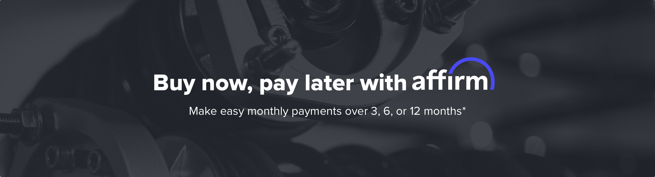 Buy now, pay later with Affirm