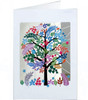 Tree with Multi Coloured Leaves Laser-Cut Card