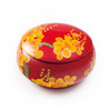 Red hand Painted Laquered Box With Lid