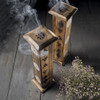Wooden Incense Tower with 10 Incense
