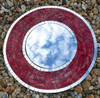 Large Shimmer Red Mosaic Mirror