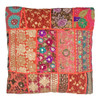 Khambadia Patchwork Footstool Red