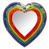 Rainbow Heart Shaped Mosaic Mirror