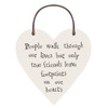 "Little Wooden Heart Tag ""People Walk"""