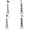 Set Of 4 Hand Painted Colourful Lighthouses