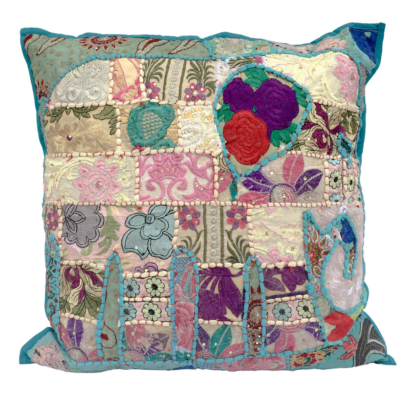 how to make a patchwork cushion cover
