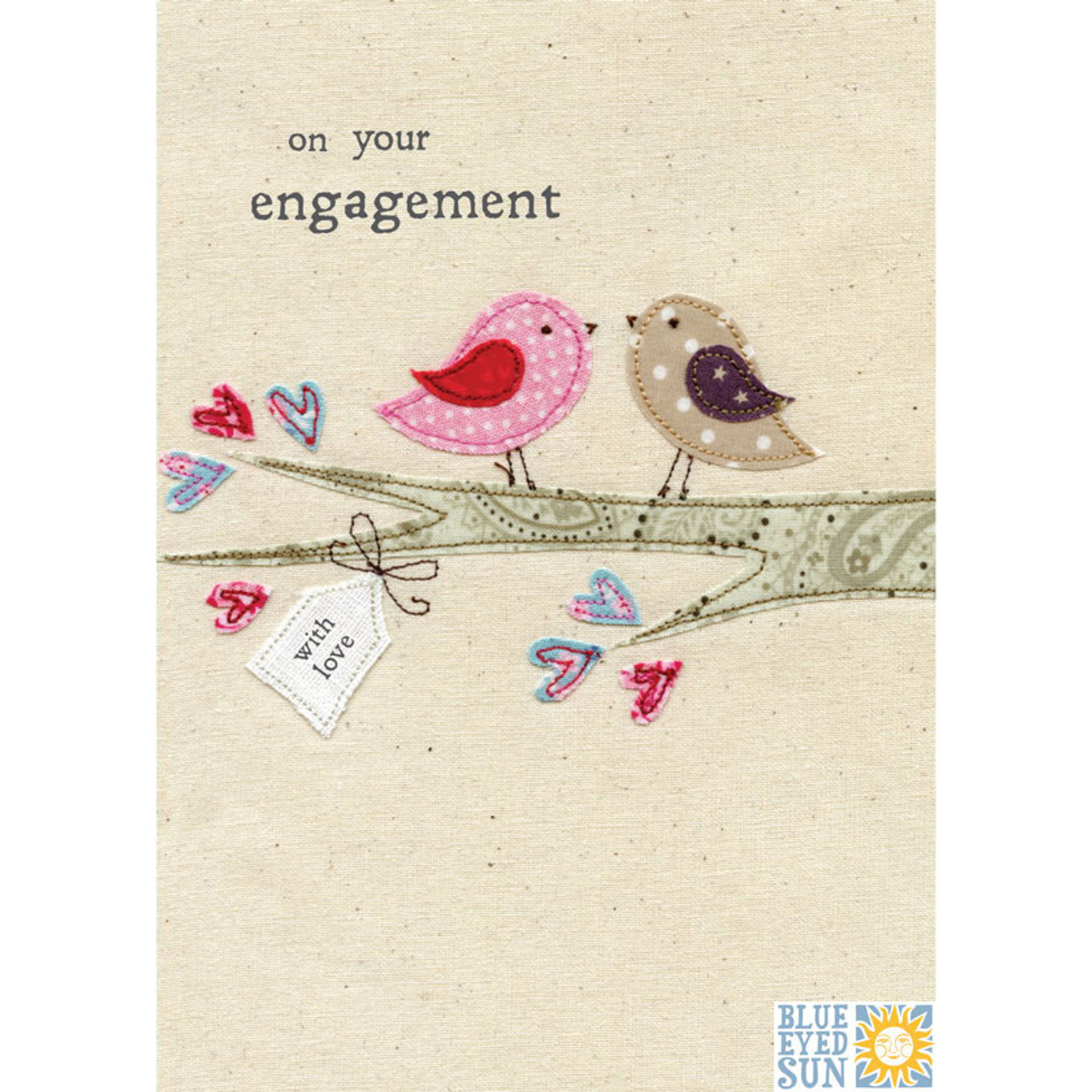 Engagement greetings card blue eyed sun present company engagement greetings card m4hsunfo