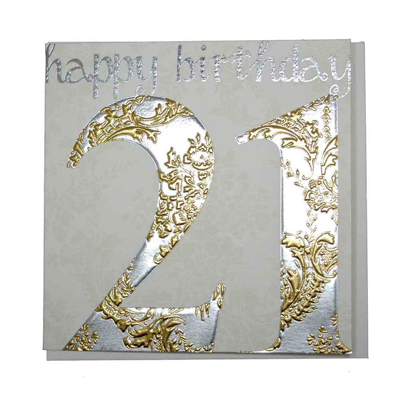 Happy 21st birthday card gold wendy jones blackett present company happy 21st birthday card gold bookmarktalkfo Image collections
