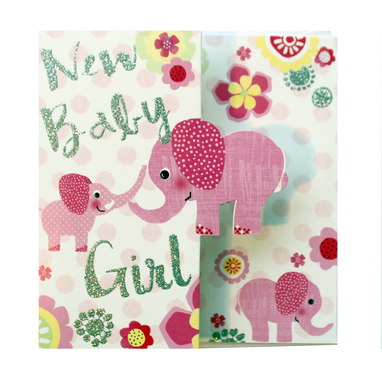 New baby girl greetings card peel cards present company new baby girl greetings card m4hsunfo