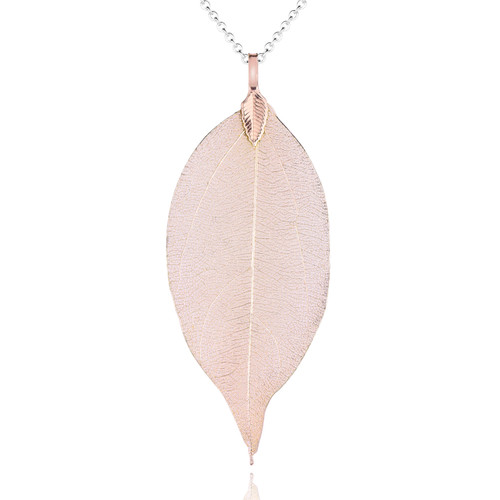 Real Leaf Champaign Pendant on Chain