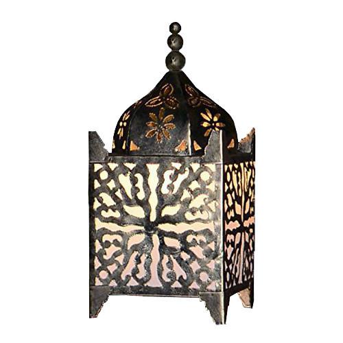 Cream Fabric Moroccan Lamp