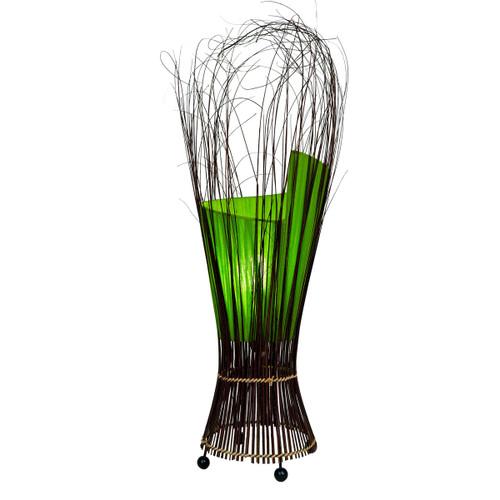 Lime Fabric Twist Lamp