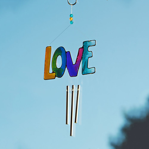 Rainbow LOVE Sun Catcher Windchime