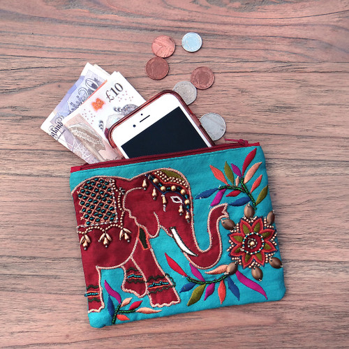 Red Elephant Coin Purse