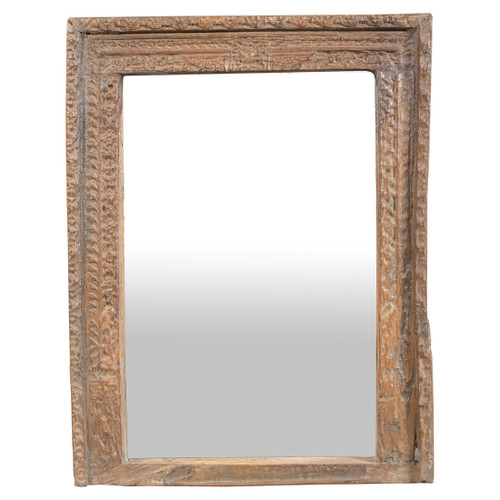Indian Wooden Mirror
