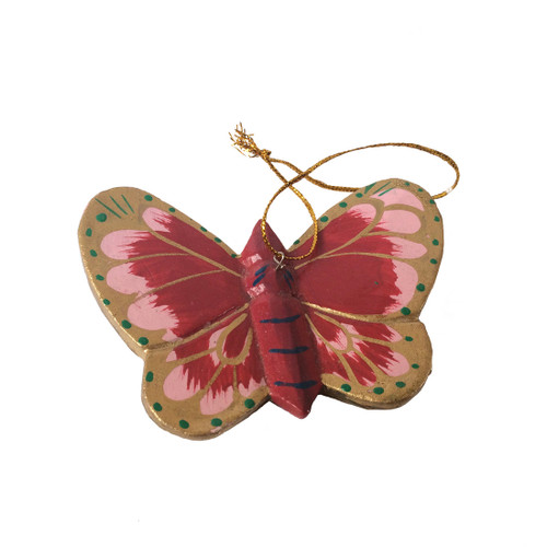 Hanging Wooden Butterfly Decoration