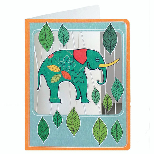 Laser Cut Elephant Birthday Card Forever Cards Present Company