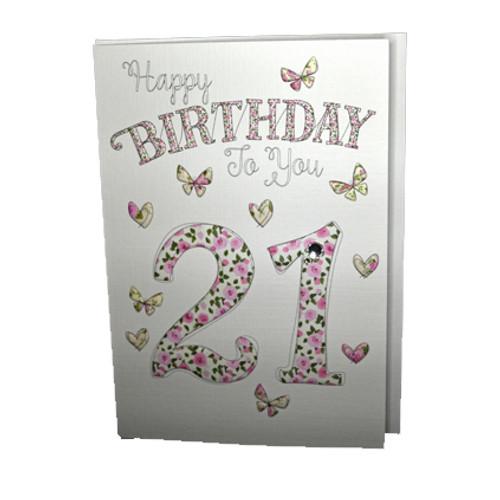 happy 21st birthday card butterflies wendy jones blackett